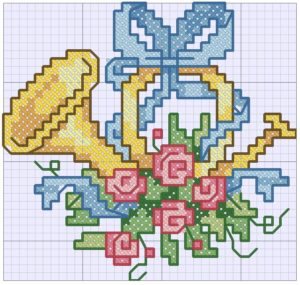вышивка крестиком роза схема