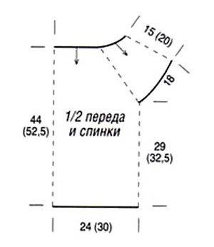 вязание крючком схемы летние кофты