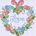 вышивка крестиком сердечко схема