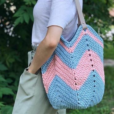 вязаные сумки крючком +из трикотажной пряжи