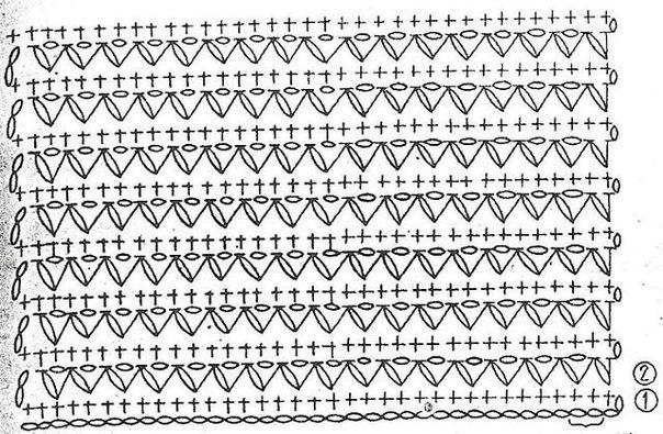 топы крючком со схемами