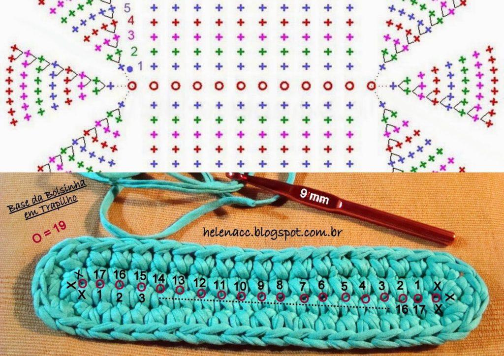 вязаные сумки крючком +из трикотажной пряжи схемы