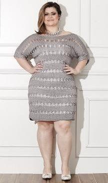 платье крючком +для полных женщин