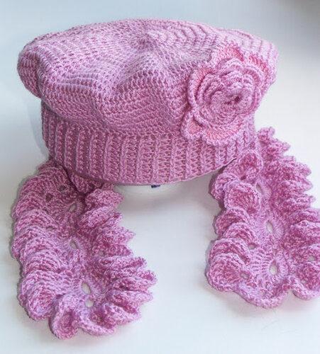 берет и шарфик для девочки