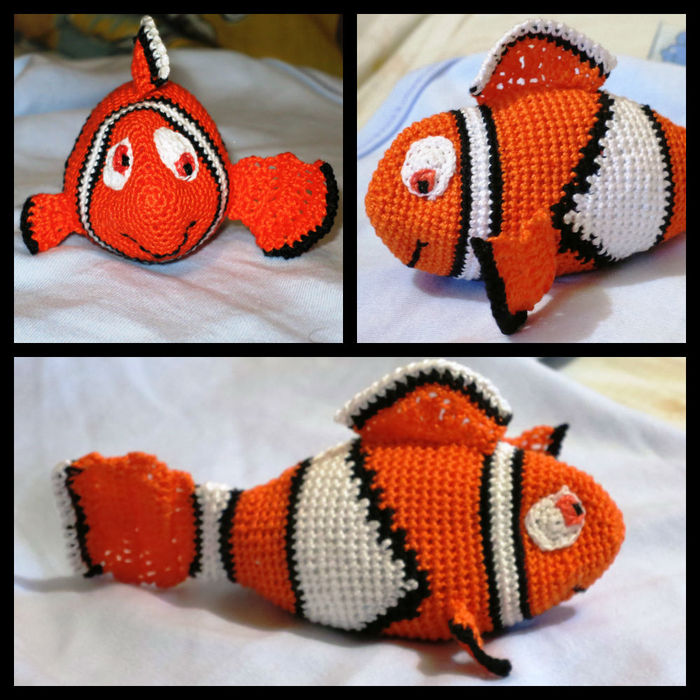 вяжем крючком рыбки